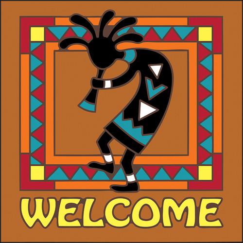 6x6 Tile Welcome Kokopelli