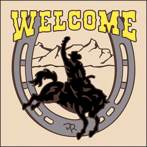 6x6 Tile Welcome Rodeo Sand 7958A