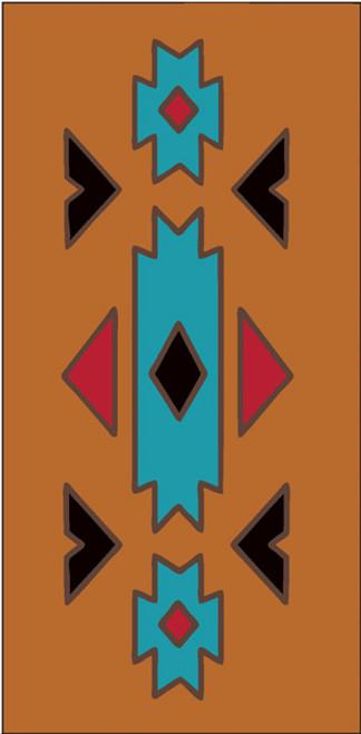 3x6 Tile Southwest Native Border TerraCotta