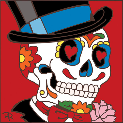 6x6 Tile Day of the Dead Groom 7854A