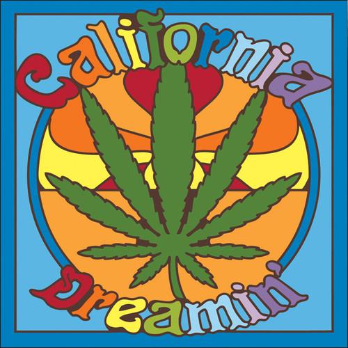 6x6 Tile California Dreamin' Pot Leaf 7309A