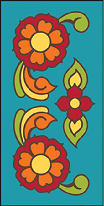3X6 Tile Talavera Flowers Turquoise