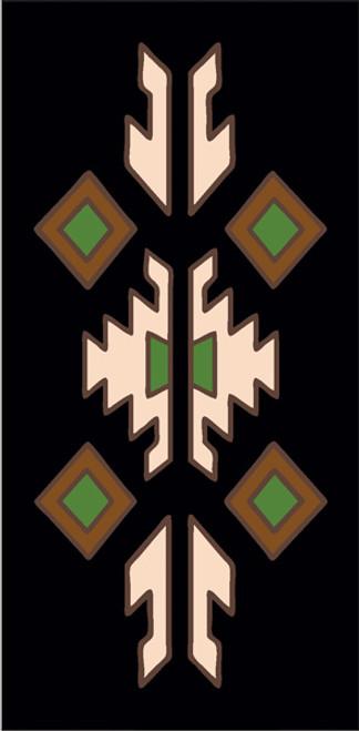 3x6 Tile Lodge Border Black