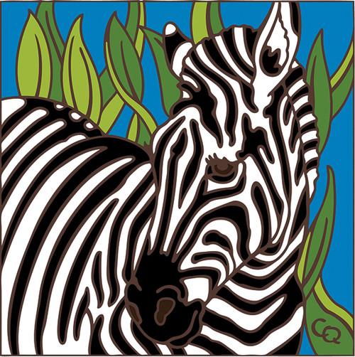 6x6 Tile Zebra