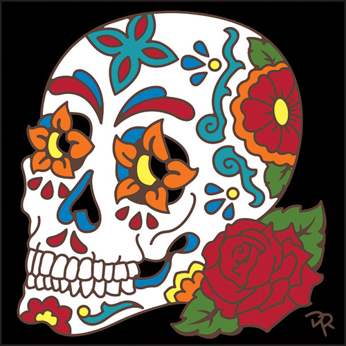 6x6 Tile Day of the Dead Sugar Skull 8301A