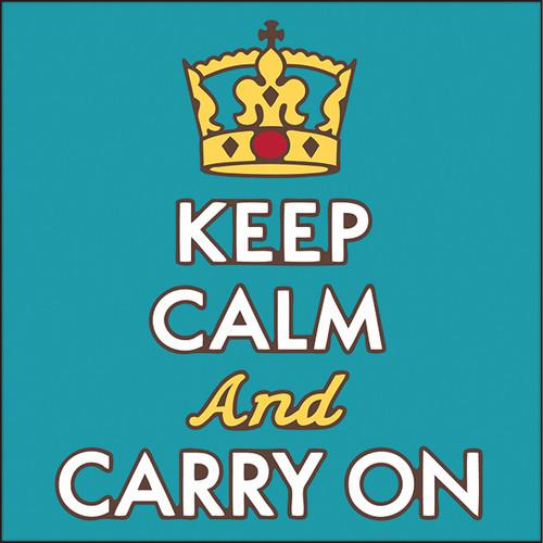 6x6 Tile Keep Calm and Carry on 8098A