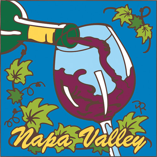 6x6 Tile Napa Valley Pouring Glass