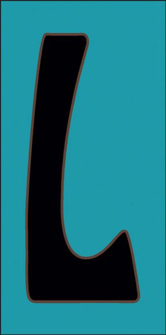 3x6 Tile House Letter L Turquoise