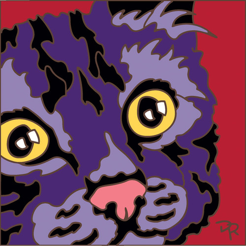 6x6 Tile Abstract Cat IV