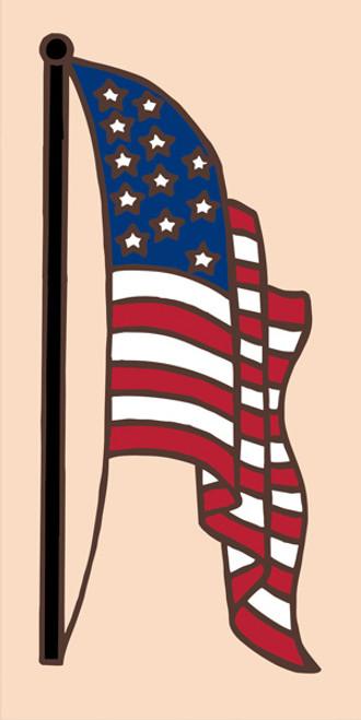 3x6 American Flag (Sand)
