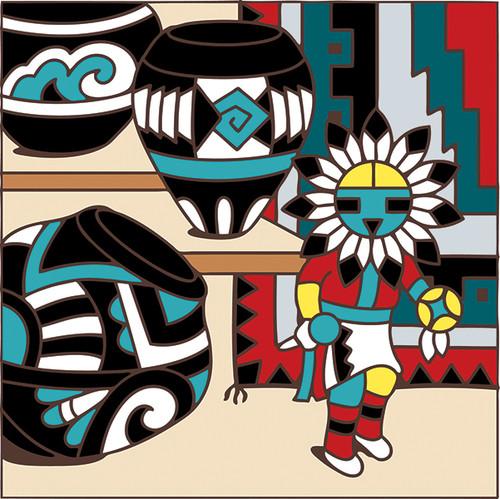 6x6 Tile Kachina Pot
