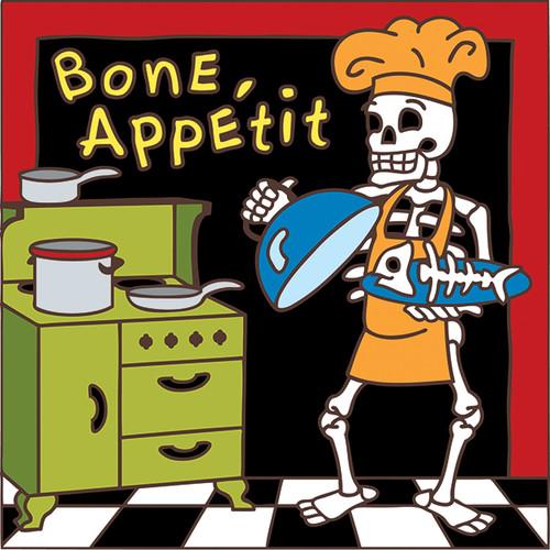 6x6 Tile Day of the Dead Bone Appetit 7467A
