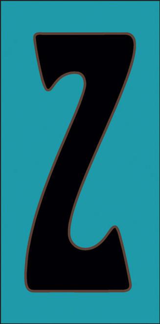 3x6 Tile House Letter Z Turquoise