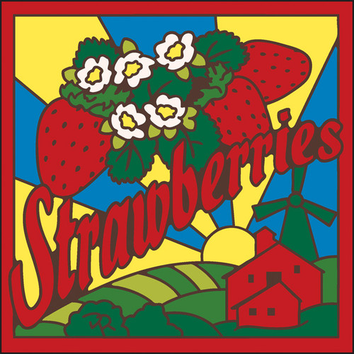 6x6 Tile Strawberries 8032A