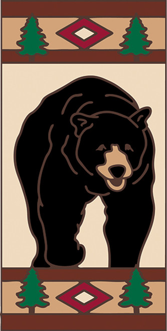 3x6 Tile Lodge Black Bear Left