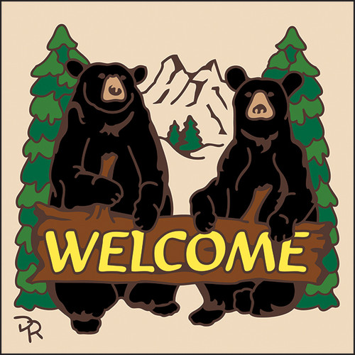 6x6 Tile Welcome Bears Sand 7949A