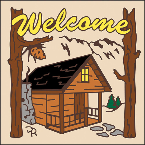6x6 Tile Welcome Cabin Sand 7950A