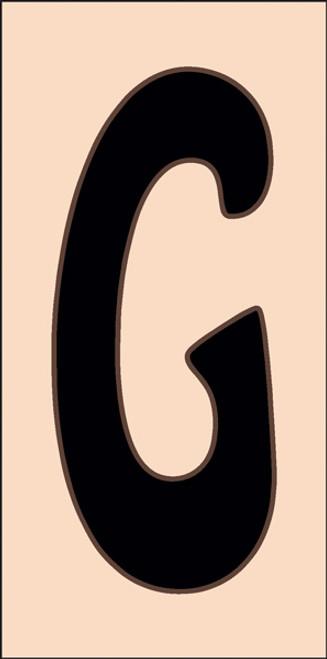 3x6 Tile House Letter G Sand