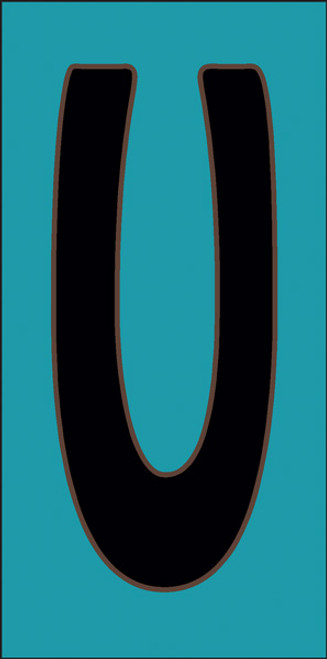 3x6 Tile House Letter U Turquoise
