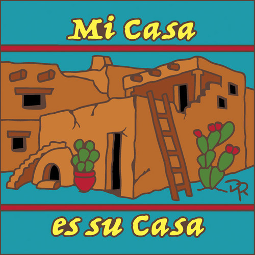6x6 Tile Mi Casa Es Su Casa Turquoise