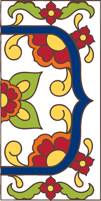 3x6 Tile House Number White Talavera Right End