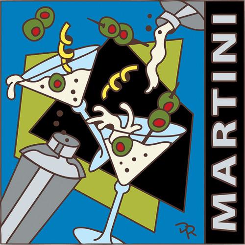 6x6 Tile Shaken not Stirred Martini