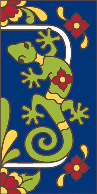 3x6 Tile House Number Cobalt Talavera Gecko Right 3066AR