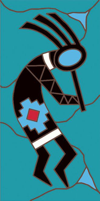 3x6 Tile KokoFacing Right (Turquoise)