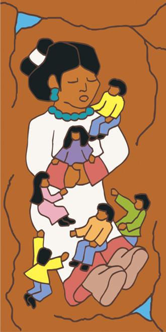 3x6 Tile Storyteller(Brown)