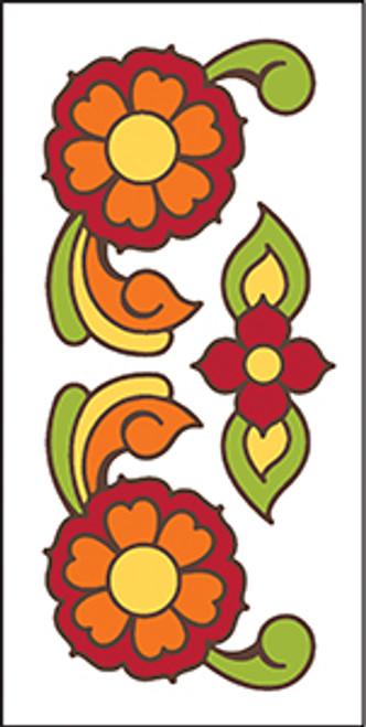 3X6 Tile Talavera Flowers White