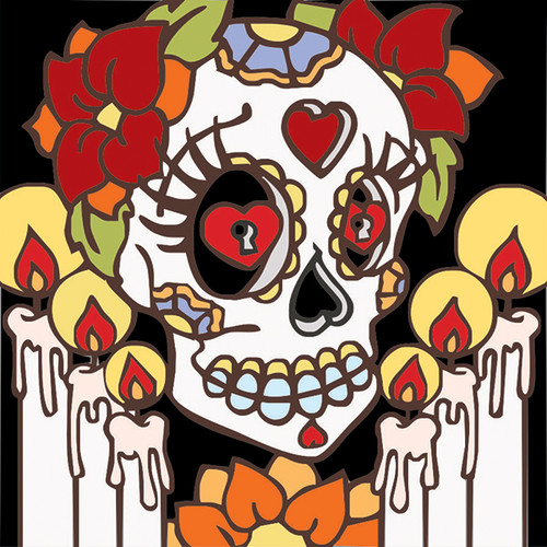 6x6 Tile Day Of The Dead Altar
