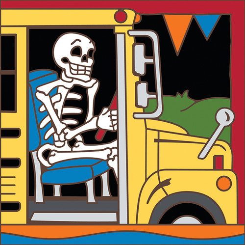 6x6 Tile Day of the Dead Bus Driver 8310A