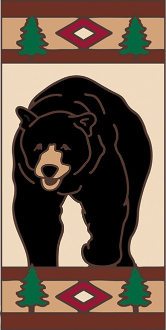 3x6 Tile Lodge Black Bear Right