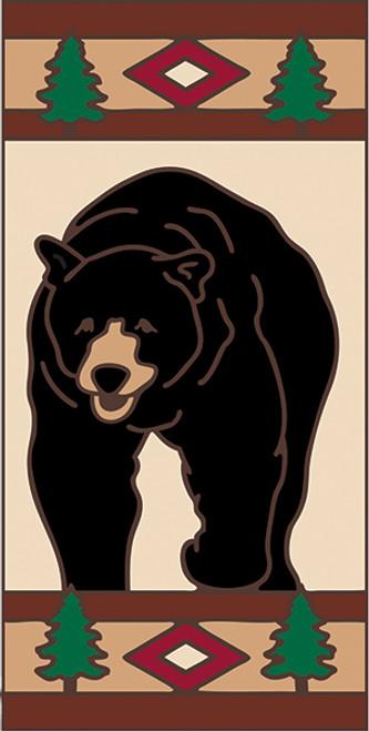 3x6 Tile Lodge Black Bear Right