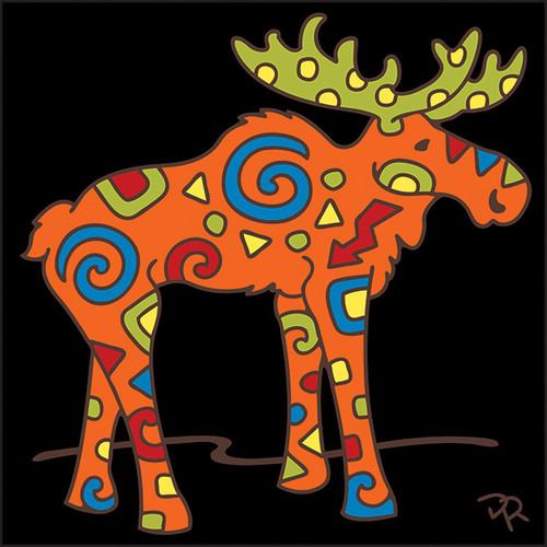 6x6 Tile Stylized Moose 7993A