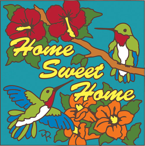 6x6 Tile HomeSweetHome Hummer Turquoise
