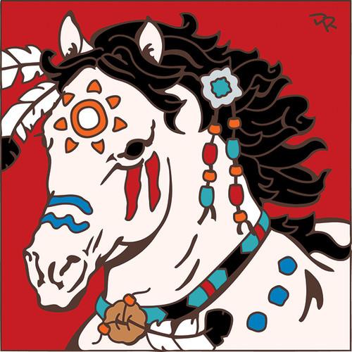 6x6 Tile War Pony/ White 7814A