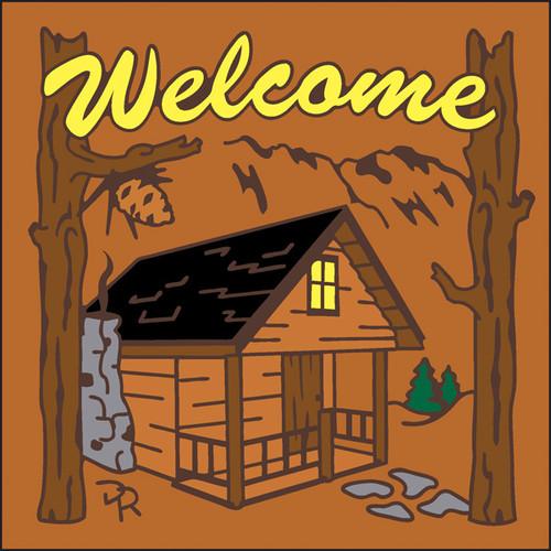 6x6 Tile Welcome Cabin Terracotta 7950R