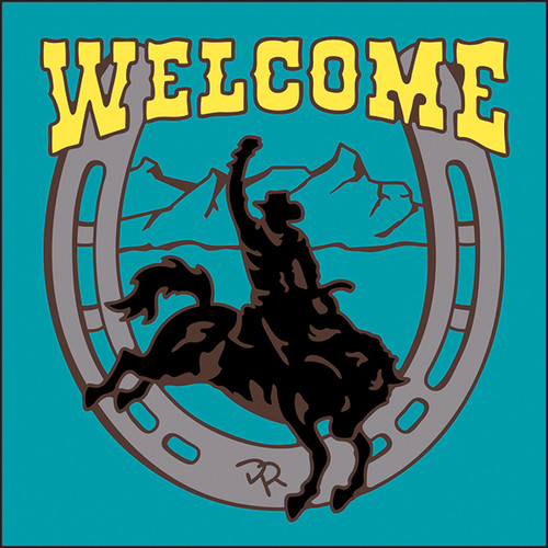 6x6 Tile Welcome Rodeo Turquoise 7958TQ