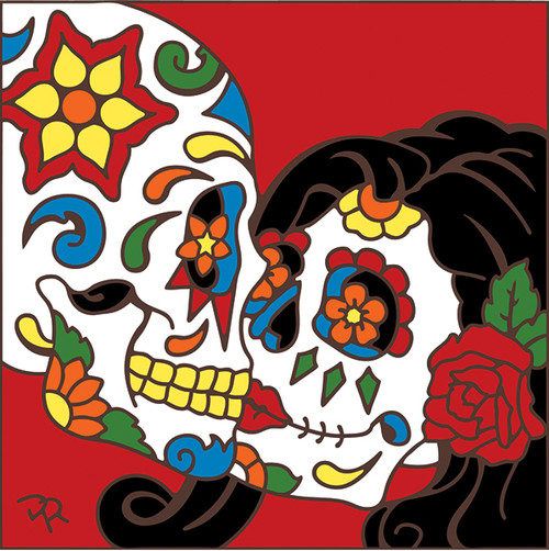 6x6 Tile Day of the Dead The Kiss 8088A