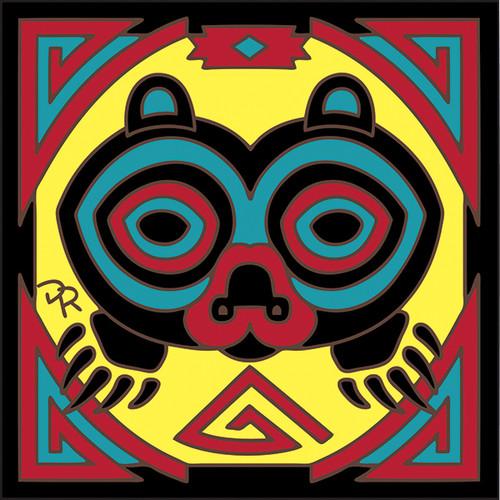 6x6 Tile Native American Bear 8195A