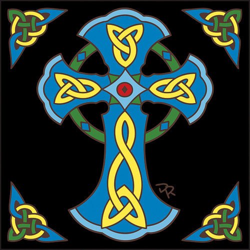 6x6 Tile Celtic Cross 7710A
