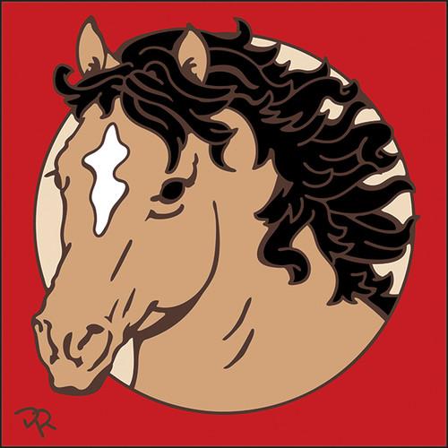 6x6 Tile Buckskin Horse 7913A