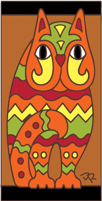3x6 Tile Fancy Cat Terracotta 3017R