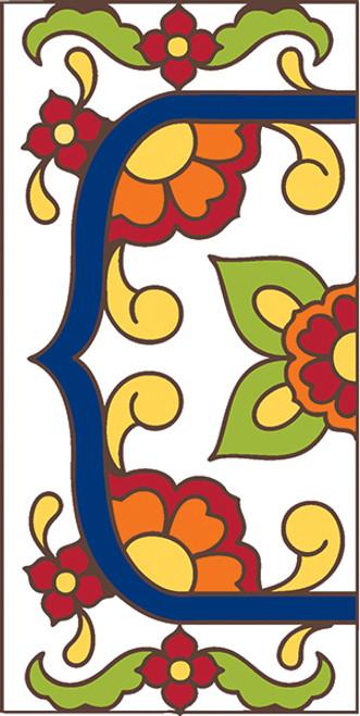 3x6 Tile House Number White Talavera Left End