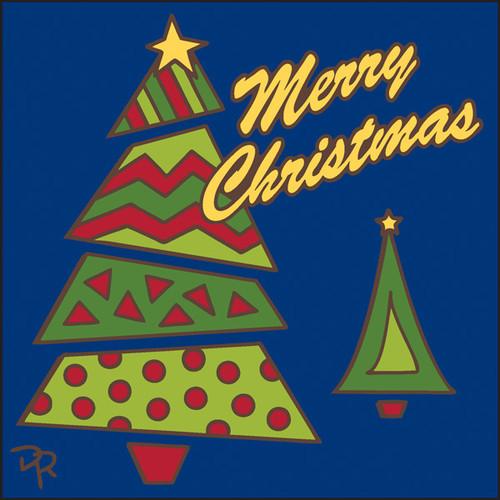 6x6 Tile Merry Christmas Tree