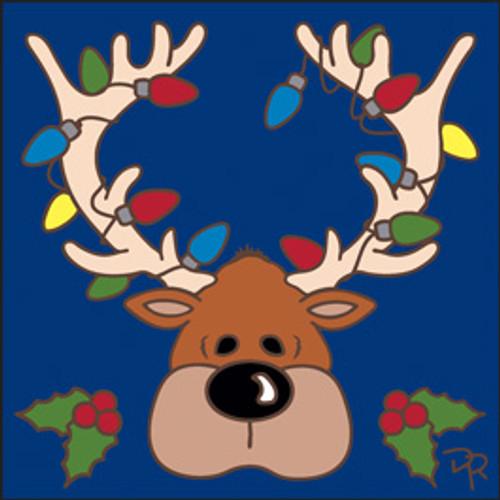 6x6 Tile Christmas Lights Reindeer