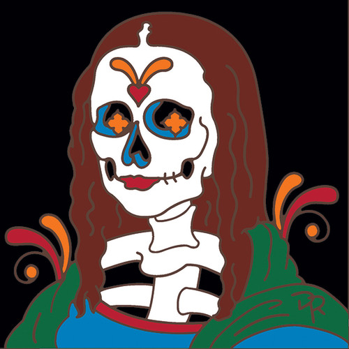 6x6 Tile Day of the Dead Mona Lisa 8322A