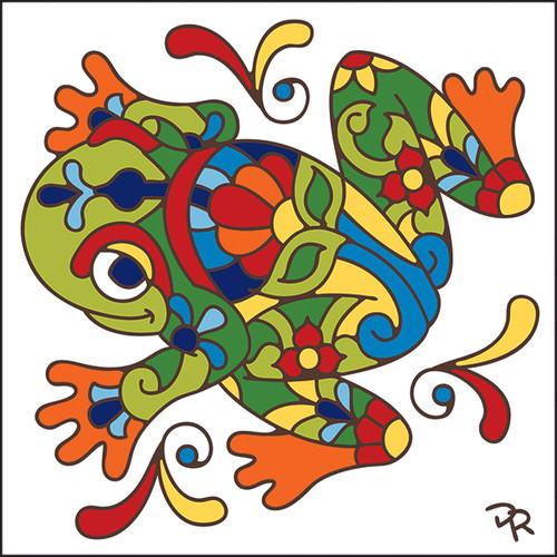 6x6 Tile Talavera Jumping Frog 7818W