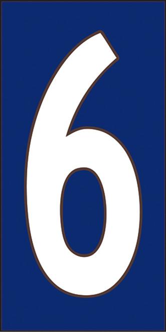 33X6 Number 6 Cobalt Background